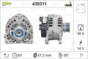 Valeo Alternator 439311 fits Volkswagen Bora 1.6 (1J2), 1.9 TDI (1J2), 2.0 (1...