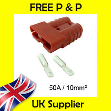 50 AMP Battery Connectors Terminal 10mm² Anderson Connector Compatible RED 50A