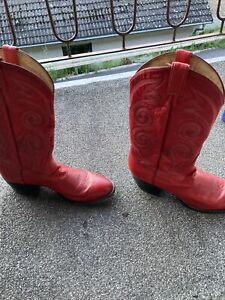Ältere Cowboyboots , Tony Lama, Rot, US-Größe 10 D