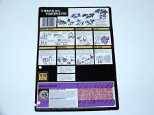 TRANSFORMERS G1 TECH SPECS FILE CARD CARDBACK SEACONS SKALOR 1987 MB NL FR