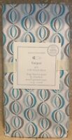 NEW Pottery Barn Kids Harper Geo Crib Fitted Sheet BLUE GRAY