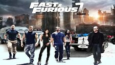 """Fast and Furious 7 Hot Movie Fabric poster 36"""" x 24"""" Decor 06"""