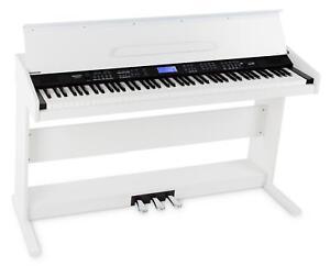 88-Tasten Digital E-Piano Beginner Home Keyboard Klavier 3-Pedale USB Weiß