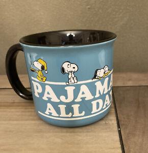 Peanuts - PAJAMAS ALL DAY - Snoopy - Blue All Season Mug