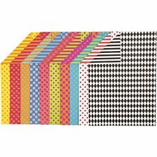 Patterned Card A4 250g 20 Sheets Different Patterns 10 Colours 2 Sided Card