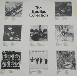 2-SIDED INSERT FOR 1970s OZ EMI BOX SET*THE BEATLES COLLECTION*HAS TRACK LISTI