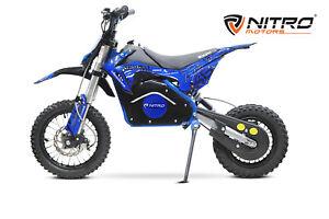Nitro Motors Eco Dirtbike 1200W Serval 12/10 Zoll 48V Lithium Akku Elektrobike