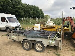 mini digger plant trailer