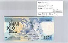 BILLET PORTUGAL - 100 ESCUDOS - 24.11.1988