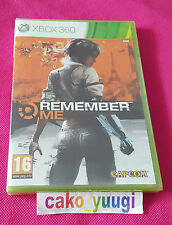 REMEMBER ME XBOX 360  NEUF SOUS BLISTER VERSION 100% FRANCAISE
