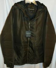 NWT Mens DRI DUCK Lined BROWN Tuff Tech Puffer Hooded Coat Size 2XL Chest 60""