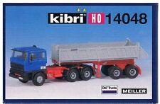 Kibri 14048 H0-Bausatz 1:87-Kit DAF ZM mit Kippsattelauflieger, Meiller-Kipper