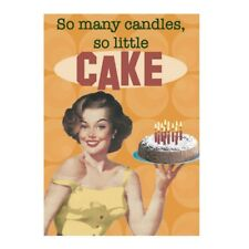 """Retro Humour """"So Many Candles"""" Greetings Card Birthday Gift Occasion Funny"""