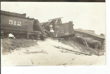 CF-412 SD?, Arlington Train Wreck Number 512 Real Photo Postcard RPPC