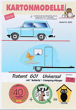 MDK-Verlag 6002 - Trabant 601 universal + Camping-Anhänger - gletscherblau 1/25