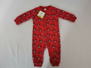 NEW DISNEY Baby Minnie Mouse Red Sleepsuit PJs Babygrow Age 6 Months Girls