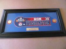 2011 World Series Nameplate- Ron Washington - Texas Rangers - 1 of 1 - Authentic