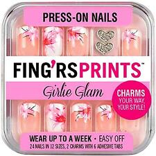 Fing'rs Prints Girlie Glam Press-On Nails, BLOOMING BEAUTY 31032