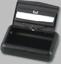 Tabakdose / 100 x 70 mm / Schwarz matt / Papierhalter