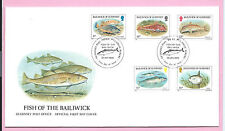 GUERNSEY 1985  Official FDC - FISH OF THE BAILIWICK  - Unaddressed H/stamped
