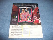 1997 Upper Deck Plate Ad Ticket to Greatness Michael Jordan 25,000 Points