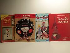 4 Christmas Craft Pattern and Instruction Booklets