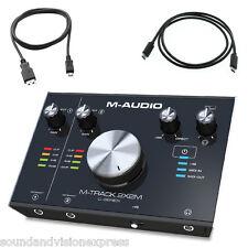 M-Audio M-Track 2X2M 24-bit 2-Ch USB Audio + MIDI Recording Interface + Cubase