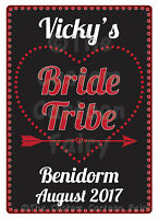 Personalised 'Bride Tribe' Hen Do/Party Iron On T-shirt Transfer