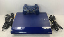 Sony Playstation 3 Super Slim Console Azurite Blue PS3 System Tested