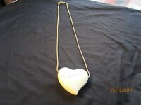 Vintage Mikasa Heart Necklace Cathy Hardwick Pendant & Chain
