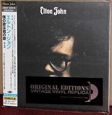 JAPAN Made CD UICY-9101: ELTON JOHN - Elton John (self titled) - OBI 2001 OOP SS