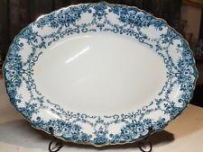 """Antique W. Adams & Co Sons Semi-Porcelain Serving plate Festoon Pattern 16"""""""