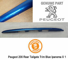 Peugeot 206 Rear Boot Tailgate Moulding Plynth Handle Trim Blue Ipanema Genuine