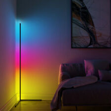 Multicolor RGB LED Corner Floor Lamp Nordic Minimalist with Remote Controller