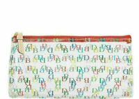 🌹NWT Dooney & Bourke It On the Go Clear Cosmetic Case Multi-Color DB Logo New