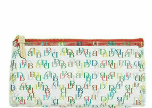 NWT Dooney & Bourke It On the Go Clear Cosmetic Case Multi-Color DB Logo New