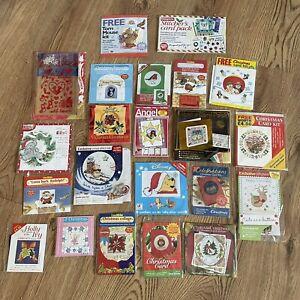 NEW CROSS STITCHER Magazine Xmas Card X 22 Job Lot Set Cross Stitch Embroidery
