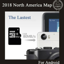 Newest 16GB MicroSD Card Car GPS Nav 2018 Map Software For Android With USA Map