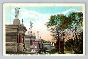 New Orleans LA-Louisiana, Metairie Cemetery Fine Tombs, Ladies, Vintage Postcard