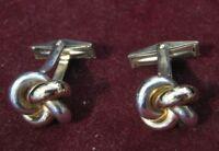 D&B Dolan Bullock 14K Yellow Gold & Sterling CLASSIC KNOT Design Cufflinks LQQK!