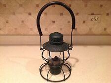 Antique C. C. C. &  ST. Louis Railroad Lantern Handlan Green Excellent Cond.