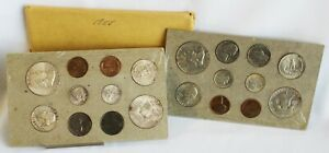 1958 P & D Uncirculated US Mint Set 12 Silver Coins Original Inner Envelope