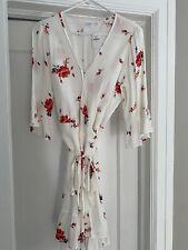 Gap XS White Floral Wrap Dress NWT