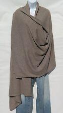 100% Cashmere Knit Shawl/Throw Himalayan 2 Ply Handloomed Natural: Grayish Brown