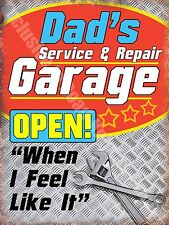 Dad's Service & Repair Garage, Funny/Humorous Vintage, Car Novelty Fridge Magnet