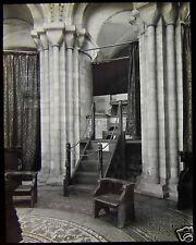 Glass Magic Lantern Slide INTERIOR PART OF NORWICH CATHEDRAL C1910 PHOTO