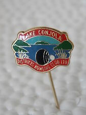 Vintage Antique Collectable Retro Lawn Bowl Stick Pin LAKE CONJOLA BOWLING CLUB