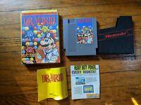 Dr Mario Nintendo NES Complete In Box CIB Tested
