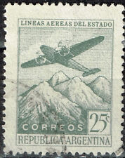 Argentina Aircraft over Volcanos Mountains stamp 1940