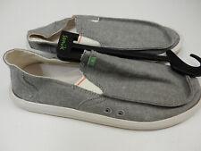 Sanuk Mens Sidewalk Surfers Pick Pocket Chambray Charcoal Chambray Size 9